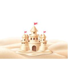 seaside sand castle coastline coast shore vector image