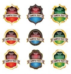 vintage emblems set vector image