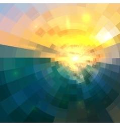 Abstract blue and yellow circle technology mosaic vector