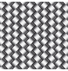 abstract metallic wickerwork pattern vector image