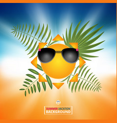 abstract of summer background with sun bright in vector image