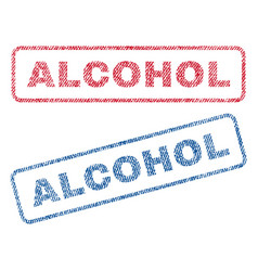 Alcohol textile stamps vector