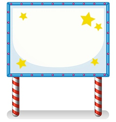 An empty frame banner with stars vector