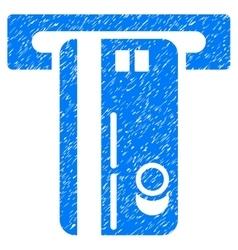 ATM Machine Grainy Texture Icon vector image
