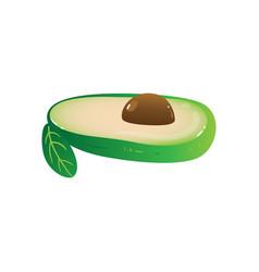 avocado half fruit icon for vegetarian healthy vector image