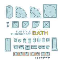 Bath equipment set vector