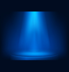 blue scene illuminated spotlight show spotlight vector image
