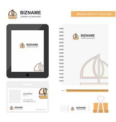 boat business logo tab app diary pvc employee vector image