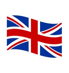British flag waving banner poster vector