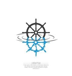 Business Abstract wheel ship icon vector
