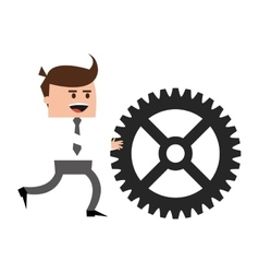 Businessman with gear icon vector