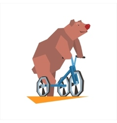 Circus Bear Riding Tricycle vector
