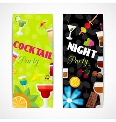 Cocktails banner vertical vector image