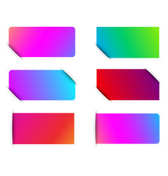 colorful spectrum paper labels templates vector image