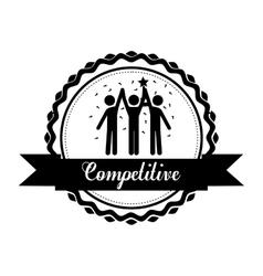 Competitive spirit design vector