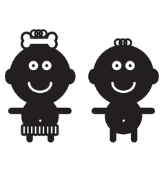 Cute simple children vector