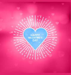decorative circle flat line happy valentines day vector image