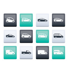 Different types of cars icons vector