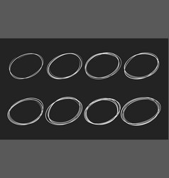 doodle sketch circles pen or chalk line vector image