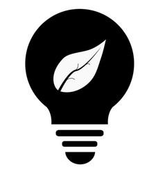 Ecological lightbulb icon ecological lightbulb on vector