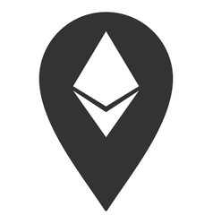 Ethereum marker flat icon vector