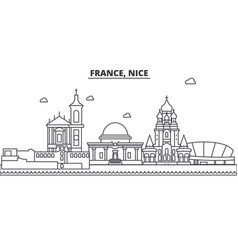 france nice architecture line skyline vector image