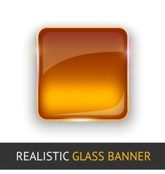 Glass banner for your design vector image