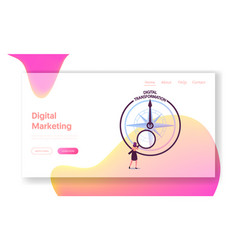 global digitization optimization in business vector image