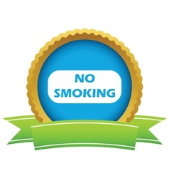 Gold no smoking logo vector