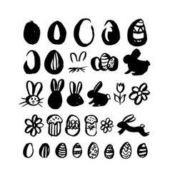 Hand drawn brush easter vector