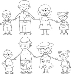 Happy Family Set vector image