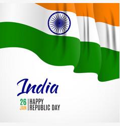 Happy india republic day26 january vector