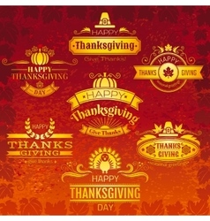 Happy thanksgiving logo vector