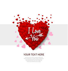 I love you concept design with big red heart vector
