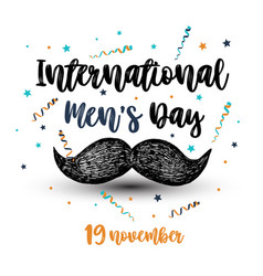 international men s day vector image