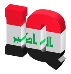 Internet top-level domain of iraq vector