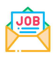Job message list mail in envelope icon vector