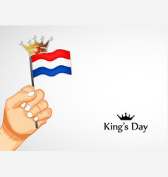 Koningsdag or kings day background vector