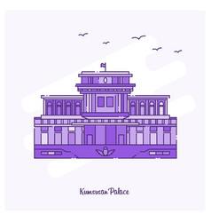 Kumsusan palace landmark purple dotted line vector