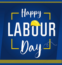 Labour day card concept vector