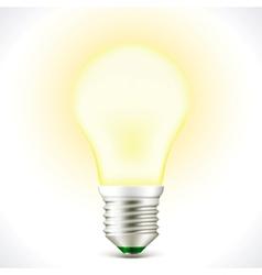 Lighted Energy saving bulb lamp vector image