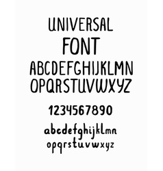 line simple font universal alphabet with small vector image