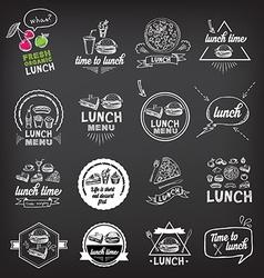 Lunch menu restaurant design vector