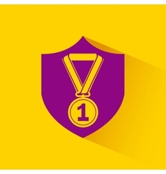 Medal first place winner icon vector