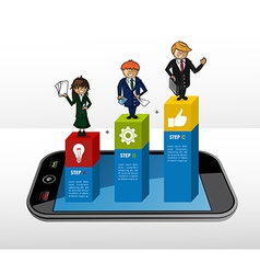 Mobile Business infographic concept vector image