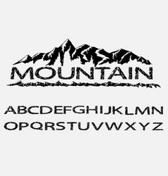 mountains silhouettes font vector image
