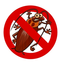 No cockroaches sign vector