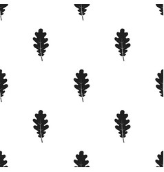 oak leaf icon in black style for web vector image