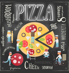 pizza pizzeria menu vector image