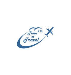 plane travel vacation logo vector image